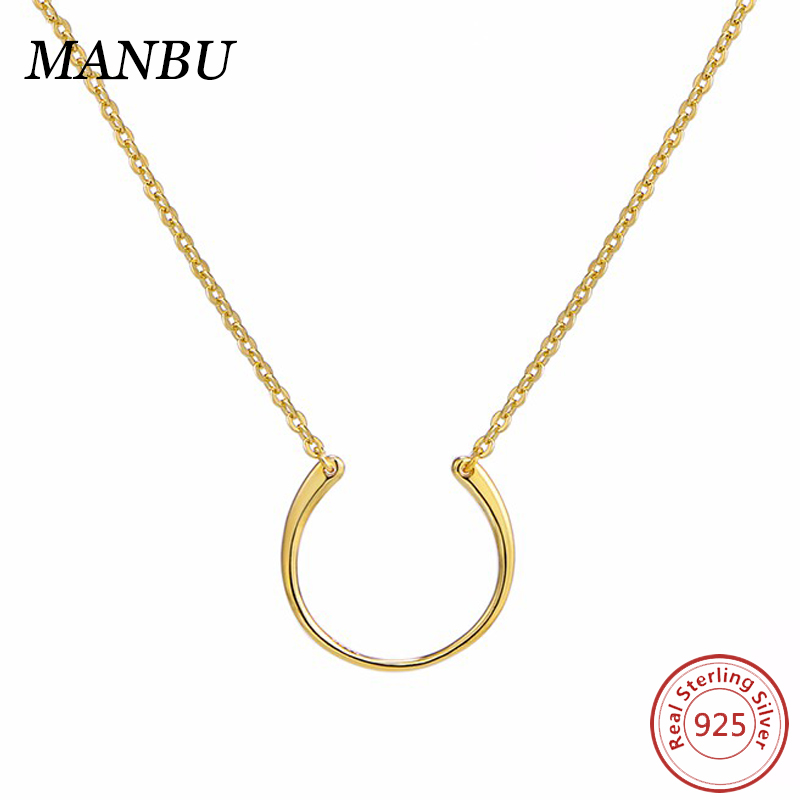 fashion design necklace 925 sterling silver 18k gold necklace jewelry