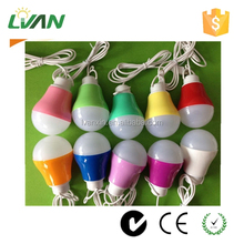 Portable Hanging DC 5v 6v led bulb 3w 5w 7w with USB connection used in camping