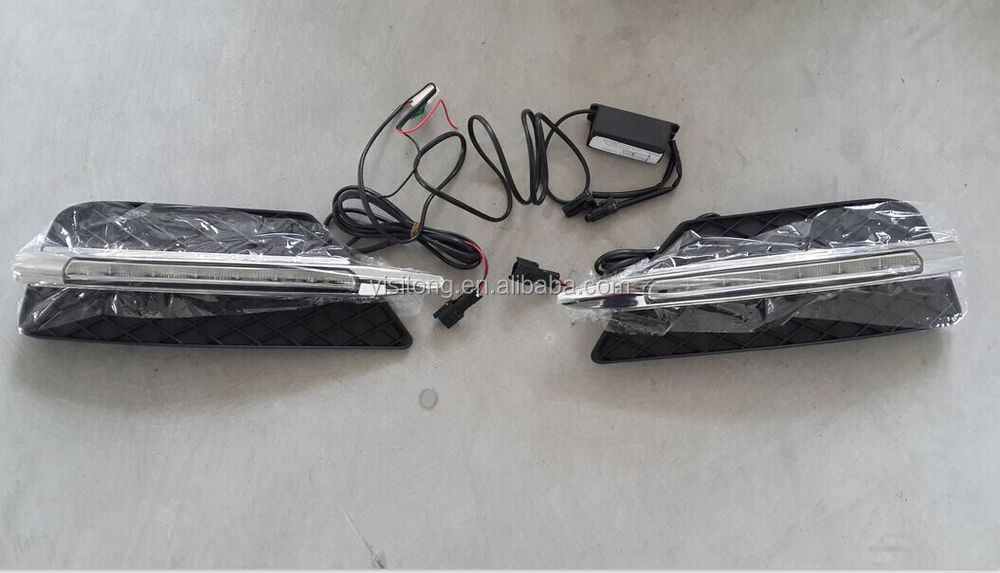 Mercedes W211 E63 Series AMG style LED daytime running light lamp replacement