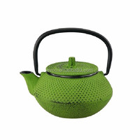 10 Oz Kyusu Cast Iron Tea Pot - Green