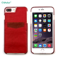 Back Cover PU Leather Wallet Case For iPhone 7plus With Card Slots