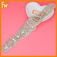 hot selling rhinestone beaded bridal accessories belt for dress sash decoration