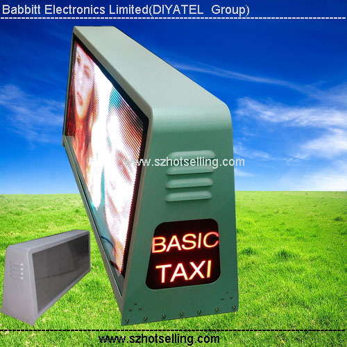 bluetooth module Led display/100% Response Rate/Babbitt Diyatel, Model No. P5 Taxi Top LED Sign (view size 960*320mm)