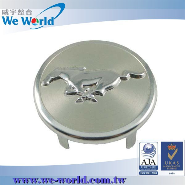 Weatherproof aluminum lacquer coating stamped wheel center rim cover