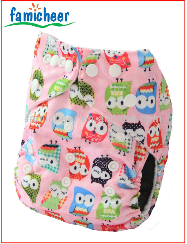 Adjustable Reusable One Size Baby Pocket Cloth Nappies