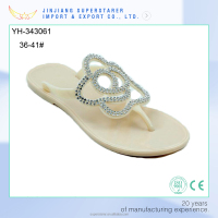 white flat lady sandals, PVC sandals shoes women