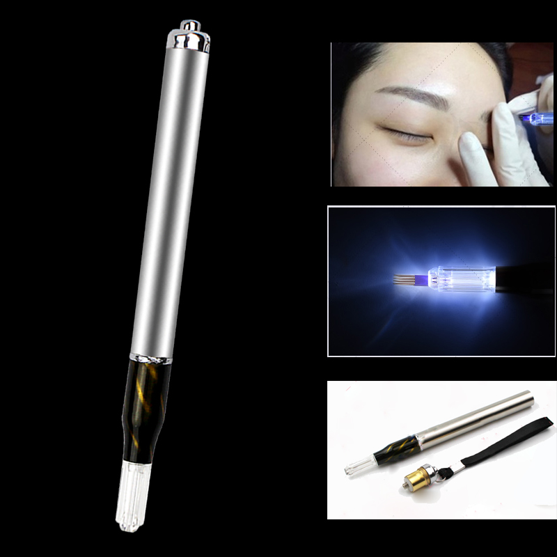 New design Disposable Blade Eyebrow Light Microblading Pen
