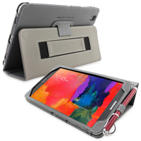 Snugg case for Galaxy TabPRO 8.4 Case Cover and Flip Stand in Grey Leather
