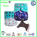 Happy flute baby washable diaper cloth reusable diapers factory custom print