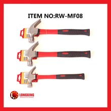 Factory Supply american type claw hammer TPR coated handle