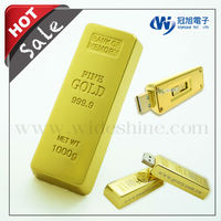 Gold style usb flash drive gift items with Custom company logo , gadget 2014