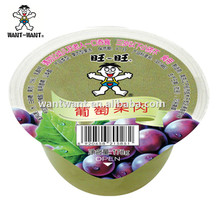 Want Want Grape&Apple Flavor Fruit Jelly in Cup Grape&Apple Flavor