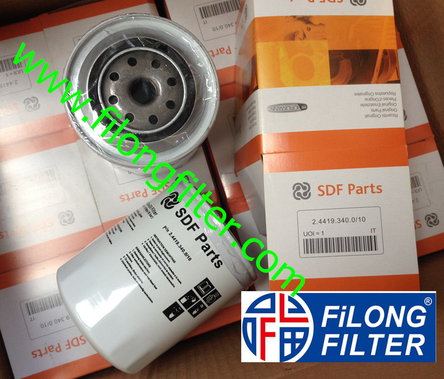 Supply FILONG For SDF PARTS Oil filter 24419340010 2.4419.340.0/10 244193400/10