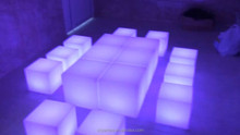 led cube seat lighting / outdoor led cube chair / led cube for event party wedding mini magic cube portable chair portable chair