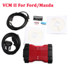 Newly V106 VCM II 2 in 1 IDS V106 Diagnosis Tool For F0Rd / Mazda VCM 2 VCM2 OBD2 Scanner Green PCB With Plastic Suitcase