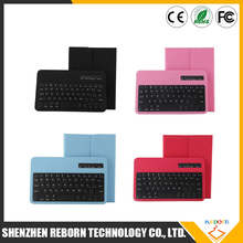 Wireless Bluetooth Keyboard Cover Tablet Detachable ABS Bluetooth Keyboard Portfolio Leather Ultra Slim Stand Case Cover