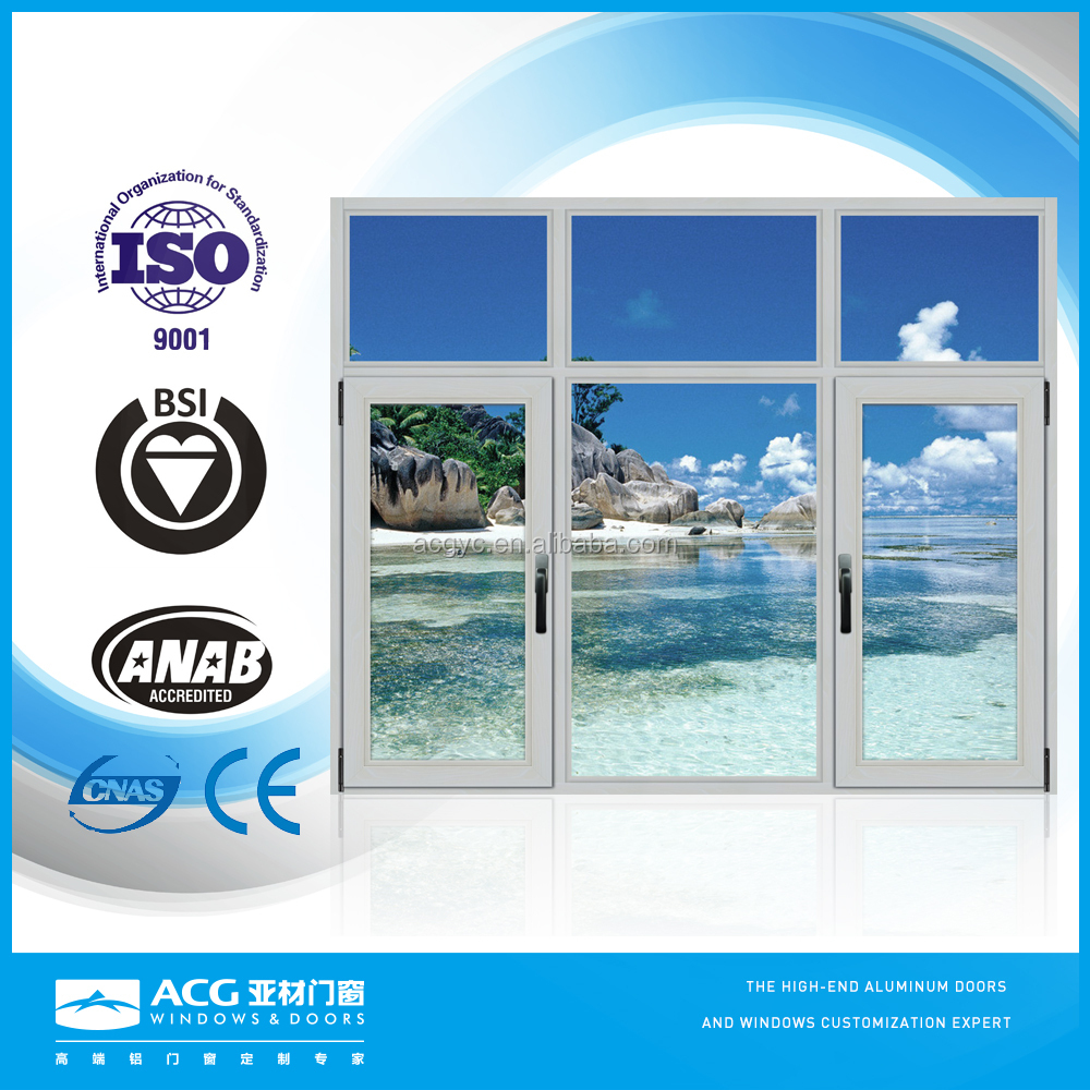 Interior decoration security and durable aluminum windows