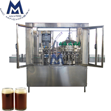 Turn-Key Brewery Small Footprint Low Oxygen Beer Can Filling Equipment / Canning Line with Single Head Mechanical Seamer