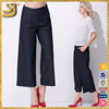 Custom new design fashion casual women cotton chino trousers pants