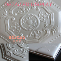 New design Waterproof leather board false ceiling tiles