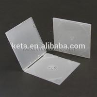 5.2mm Clear Super Slim Media Plastic Square PP CD Packaging Case