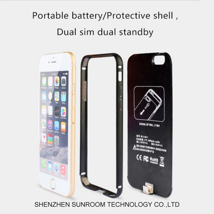 Dual SIM card Juice Pack Battery Case for iPhone 6