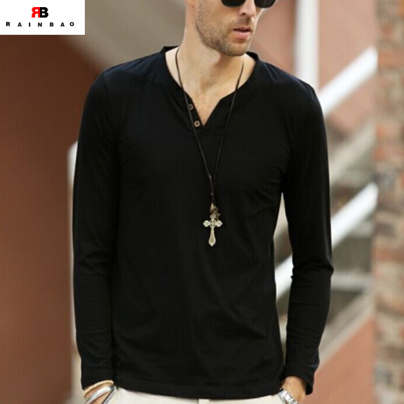 wholesale custom v-neck no name brand t-shirts for men