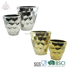 Beautiful Adjacent angle shaped ceramic Succulent Planter indoor flower pots for sale