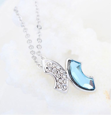 Women jewelry accessories pink stone necklaces bulk buy white gold rhinestone costume necklaces