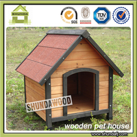 SDD08 colorful apex roof medium wood dog house