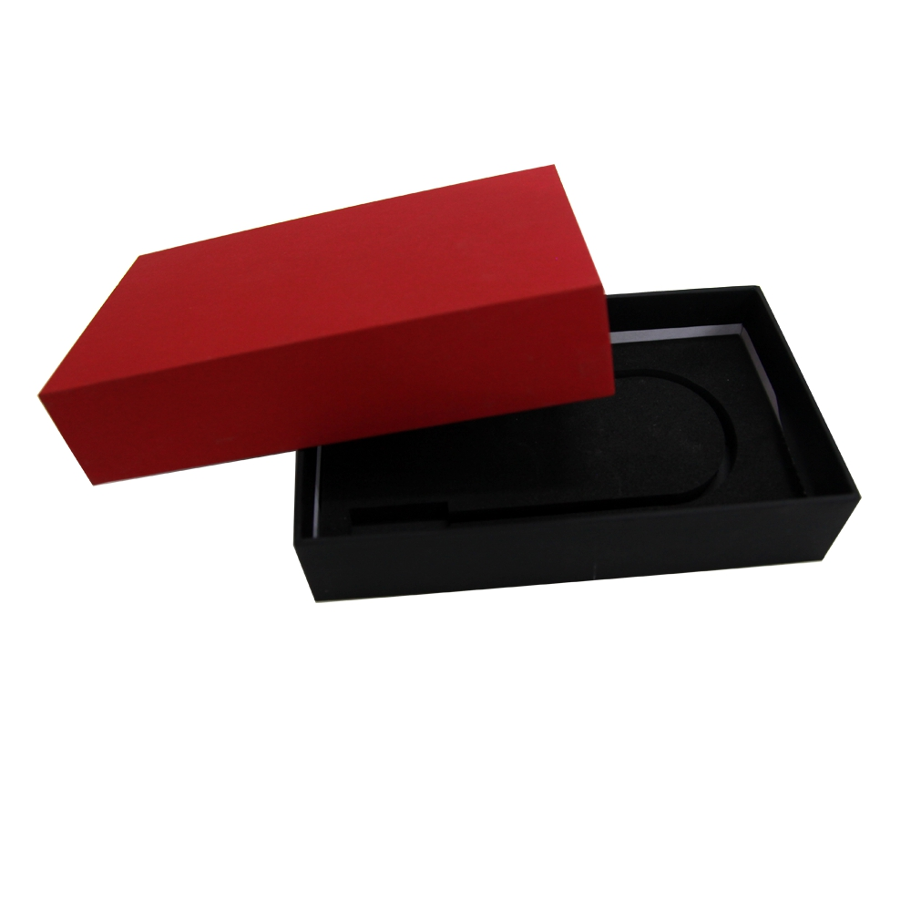 Low moq custom small Imitation leather cardboard gift box with customized EVA inner tray