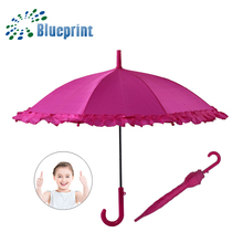 16 inches safe open ruffle kids stick children umbrella