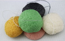 wholesale one dollar cosmetics black Cleaning Facial Natural konjac sponge