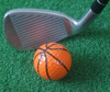 Promotional funny basketball shaped 2-Piece golf ball