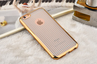 Diamond Electroplate TPU Phone Case For Iphone 6 6 Plus Soft TPU Electroplate Cover