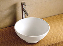W6004 Square ceramic bathroom types of wash basins