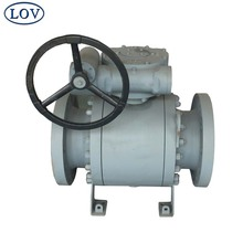 10 Inch Three Pieces Split Body Forged Steel Soft Seat Trunnion Handwheel Operated Ball Valve