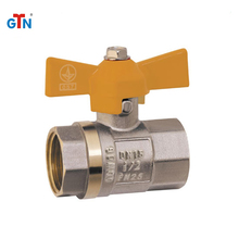 OEM brass gas valves standard butterfly handle small ART249V-B ball valve