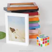 White wood picture frame timber frame / Eco-friendly photo frame