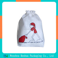 Custom printed drawstring pouch christmas candy bag