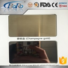 304 decorative color brushed rose gold hairline stainless steel sheet
