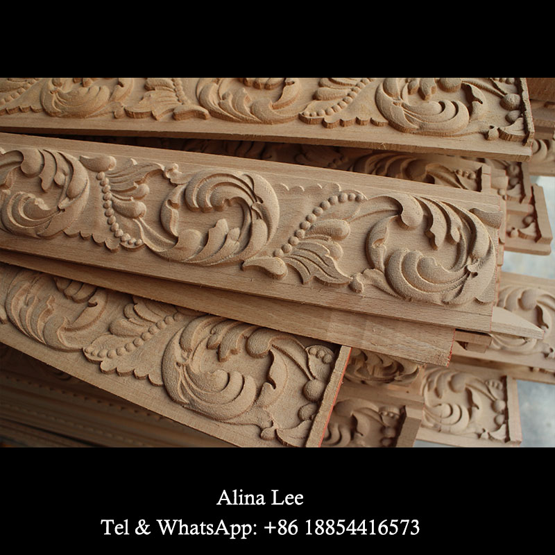 beech carved wood crown molding