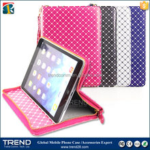 New cycle accessories zipper leather case for ipad mini