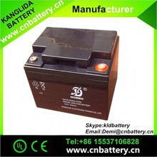 Hot selling!storage lead acid Battery 12V 40AH,Agm Battery for solar street light and fire alarm and wind power system