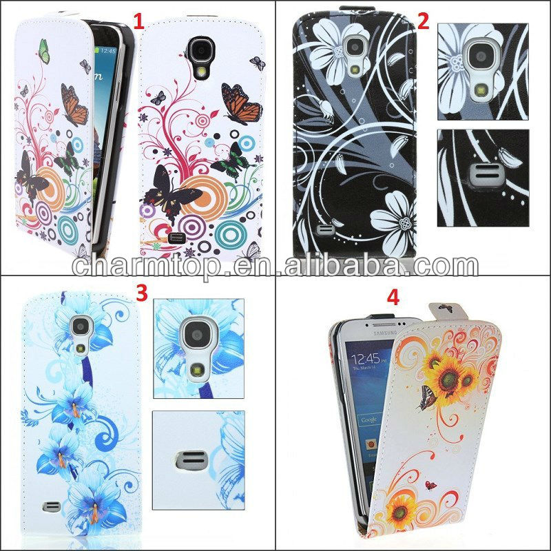 2013 Newly Flip Leather Case For Samsung Galaxy S4 Mini i9190