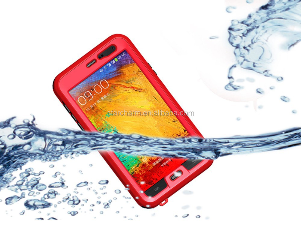 Mobile phone shockproof for Samsung galaxy note 3 waterproof case