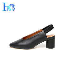 Good supplier luxuriant new model mid high heel shoes ladies