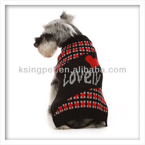 2014 Hot Lovable Pet Dog Clothing, Classic Winter Cardigan