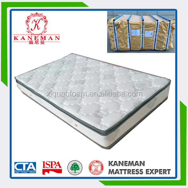Natural orthopedic rubber latex mattress pocket spring mattress made in China
