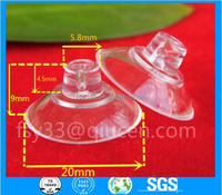 plastic Transparent pvc suction cups for glass suction cup hook diameter 20mm glass table suction cups Strong sucker